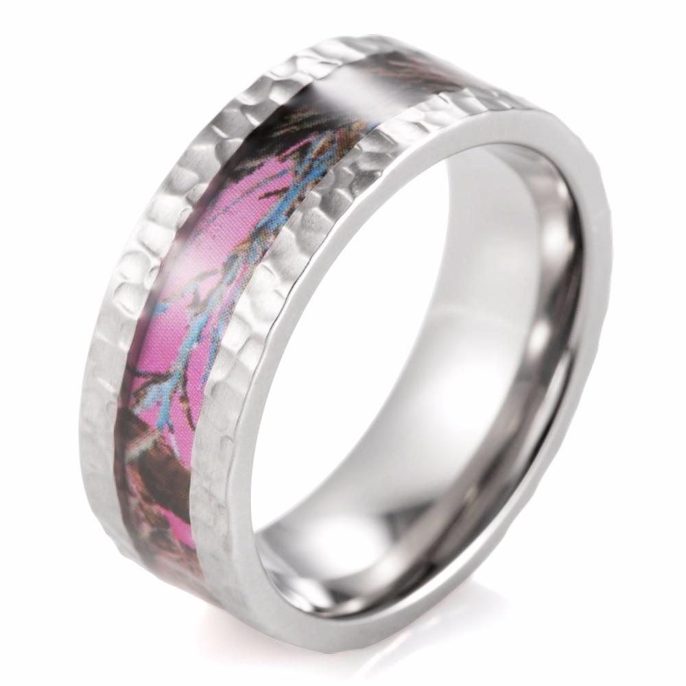 pink camo wedding rings Sz 5 10 Princess Cut Pink sapphire 10kt black Gold Filled Wedding Ring set gift