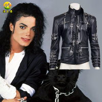 Hot Michael Jackson Performance Cosplay Leather Jacket Suit For Adult Men Halloween Party Cosplay Costumes 2 Styles