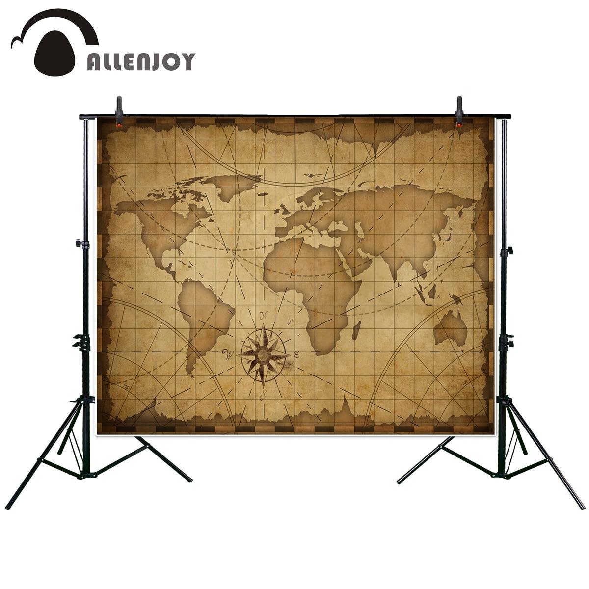 Big Sale Allenjoy Photographic Background Map Navigation Ancient Sinski Wiring Diagram World Travel Customization New Backdrop Photocall Photo Printed Custom