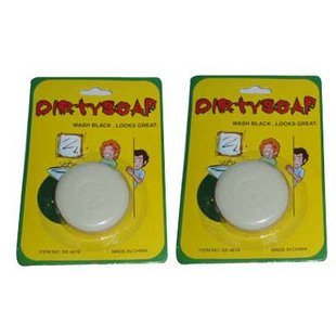 Wholesale 240pcs/lot Dirty Face Bar of Soap Joke Gag Gift Prank Trick[50off EMS]