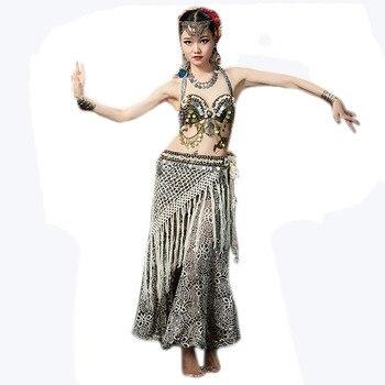 229059e9f Falda de danza del vientre Tribal falda de danza Oriental profesional falda  Floral de danza del ...