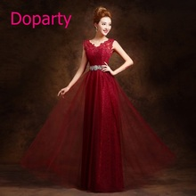 Doparty XS1 2016 Elegant Long Beautiful Formal Mother of the Bride Dubai Kaftan Red Wine Purple