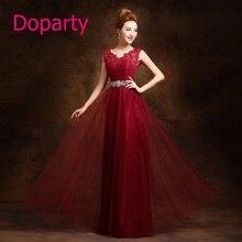 Doparty XS1 2017 Elegant Long Beautiful Formal Mother of the Bride Dubai Kaftan Red Wine Purple  Green Beaded Evening Dresses