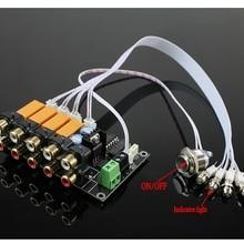 AC/DC 4 input 1 output Audio Input Signal Selector Relay Boa
