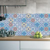 25pcs Colorful Mosaic Wall Tile Stickers Waist Europe Style Line Adhesive PVC Wall Stickers Vintage Decoration