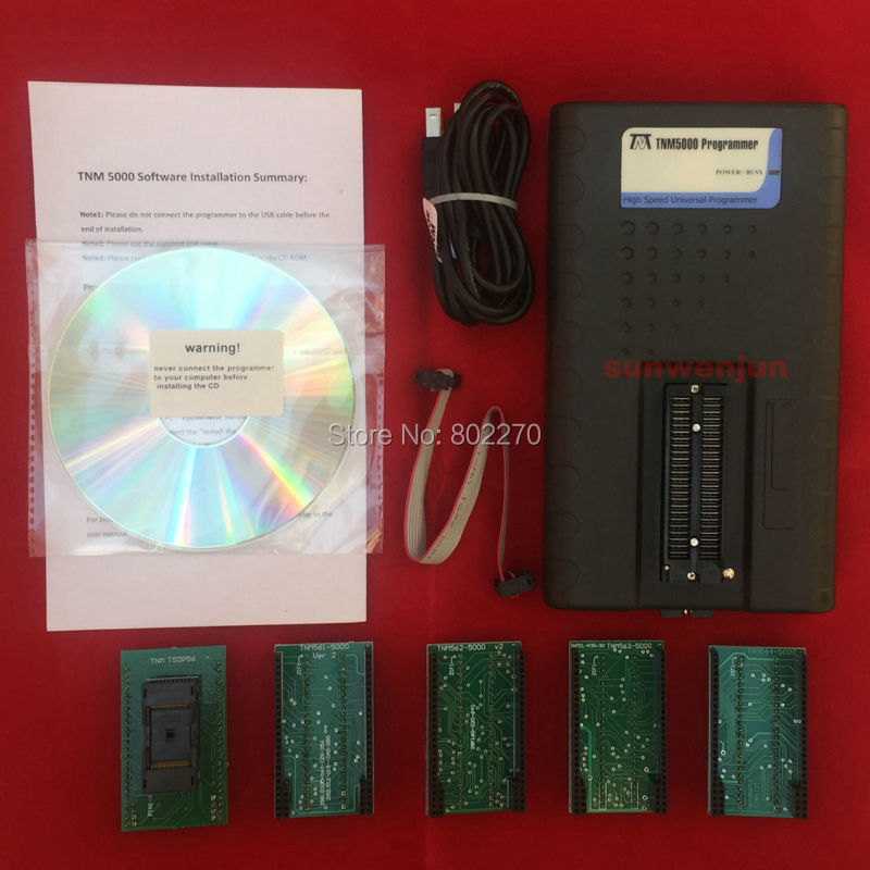 imágenes para TNM5000 Universal Programador NAND flash/EEPROM/MCU/PLD/CPLD/FPGA + TSOP56 adaptador set