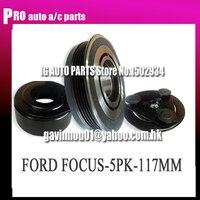 CAR AC COMPRESSOR CLUTCH FOR CAR FORD FOR FOCUS AC COMPRESSOR CLUTCH BEARING 355020 12V 5PK DIAMETER 117MM
