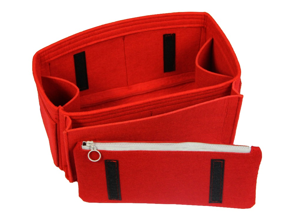 Anpassbare Fühlte Tote Organizer (w/Windel Tasche & Abnehmbare Zipper Tasche) neverfull MM GM PM Speedy 30 25 35 40 Geldbörse Einfügen