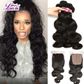 Peruvian Body Wave Silk Base Closure With Bundles,3 Bundles With Silk Base Closure,Virgin Human Hair Bundles With Silk Closures
