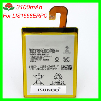 ISUNOO 10pcs/lot 3100mAh LIS1558ERPC battery for Sony Xperia Z3 L55T L55U D6653 D6603 D6633 D5803 D5833 D6616 D6708
