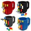 1 Piezas de Construcción de Ladrillo Bloque Bloques de Construcción Lego Tipo Taza Taza de Café DIY Rompecabezas Taza 12 oz 350 ml Tazas De Regalo de Navidad