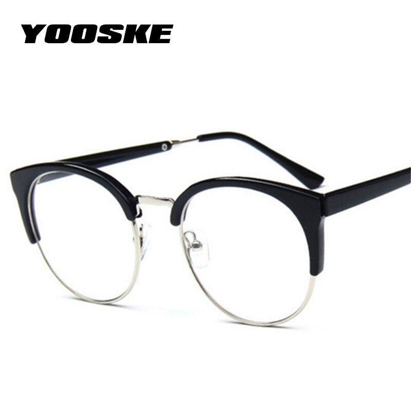YOOSKE Frauen Retro Brille Rahmen Brille Transparente Optische ...