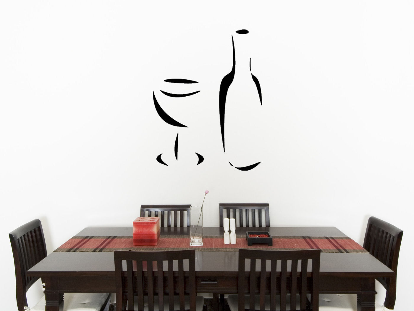 Wine Glass Bottle Kitchen Dining Living Room Decal Wall Art Sticker Picture