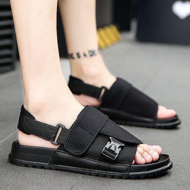 Man Sandals Summer Gladiator Men's Slippers Beach Outdoor Shoes Roman Men Casual Shoe Flip Flops Fashion Flat Large Beach Shoe Sandals