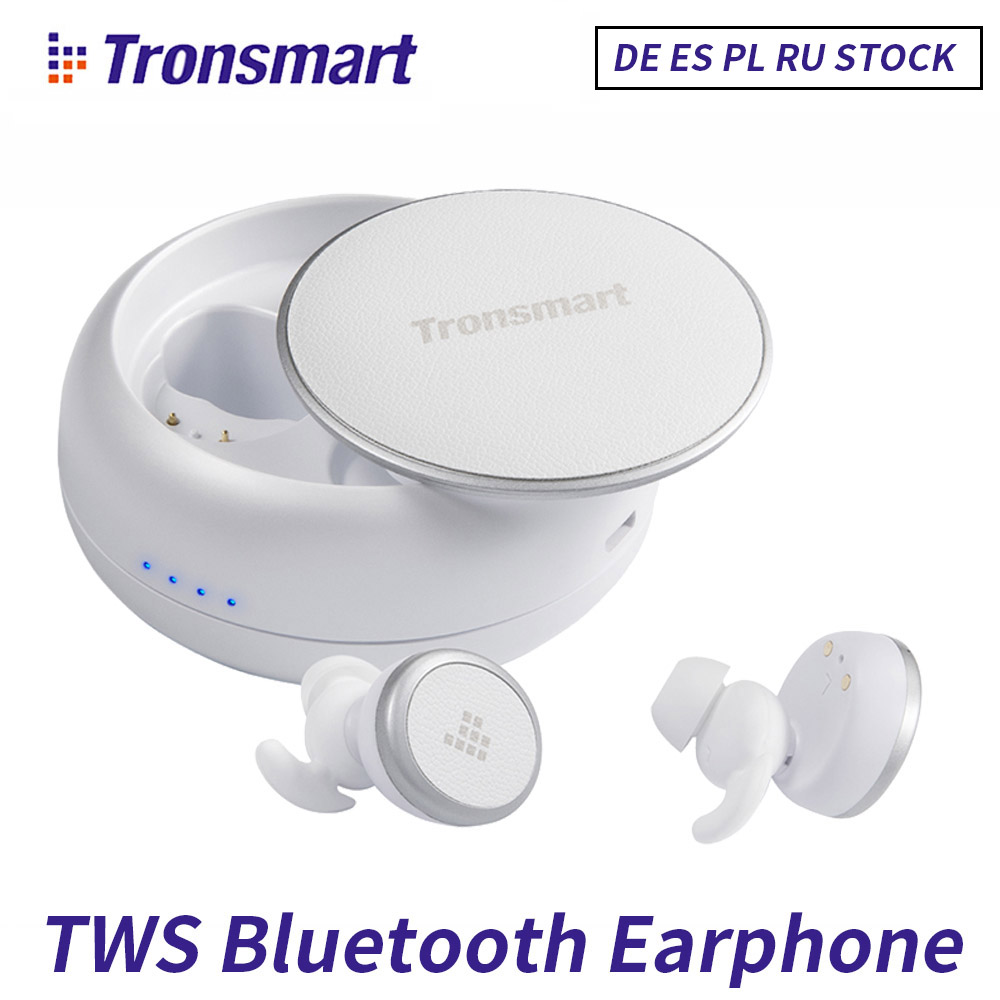 Tronsmart TWS Dual Wireless Earphones Bluetooth 5.0 Headset Sports Eurbuds IPX5 with Mic for iPhone Xiaomi Android PhoneTronsmart TWS Dual Wireless Earphones Bluetooth 5.0 Headset Sports Eurbuds IPX5 with Mic for iPhone Xiaomi Android Phone
