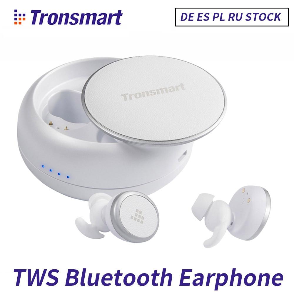 Tronsmart TWS double écouteurs sans fil Bluetooth 5.0 casque sport eurbud IPX5 avec micro pour iPhone Xiaomi téléphone Android