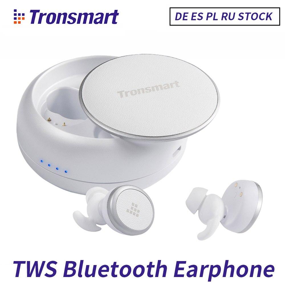 Tronsmart IPX5 Eurbuds TWS Dupla Fones De Ouvido Bluetooth 5.0 Esportes Fone de ouvido Sem Fio com Microfone para iPhone Xiaomi Android Phone