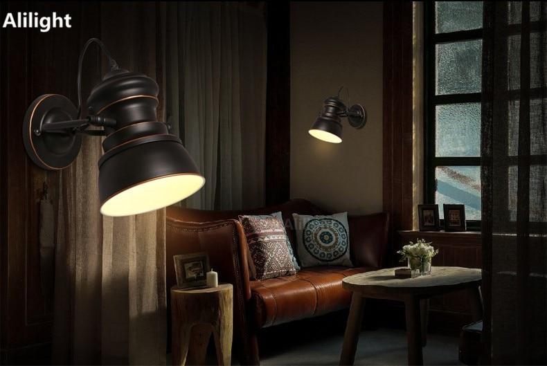Moderna lampada da parete moderna nordico stile loft industriale