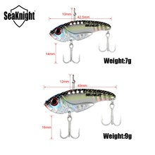 SeaKnight SK201 Sinking Vibration 7g 42.5mm / 10g 49mm 1PC Hard Fishing Lure VIB Fishing Bait 10 Colors VMC Hooks Fishing Tackle