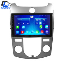 32G ROM android gps do carro multimídia rádio leitor de vídeo em traço para Kia Forte A/C Manual de 2009-2015 anos de carro navigaton fone de ouvido estéreo