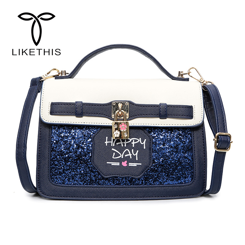 Luxury Women Handbag Leather Female Shoulder Bag Candy Color Flag Bag Lock Fashion Lady Messenger Bag Bolsa Feminina Sac A Main new fashion women chain shoulder bag crossbody bag shiny bling lady clutch purse luxury patent leather female handbag sac a main