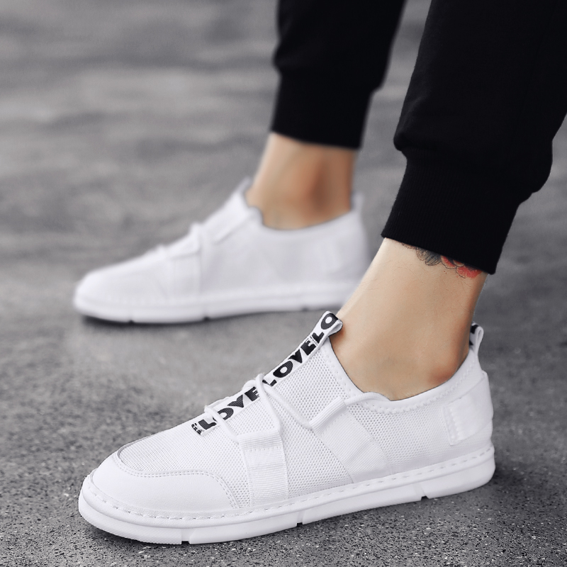 2018 New  Mens Shoes Korean Version of The Fashionable Plate with All Kinds Breathable Mesh 5