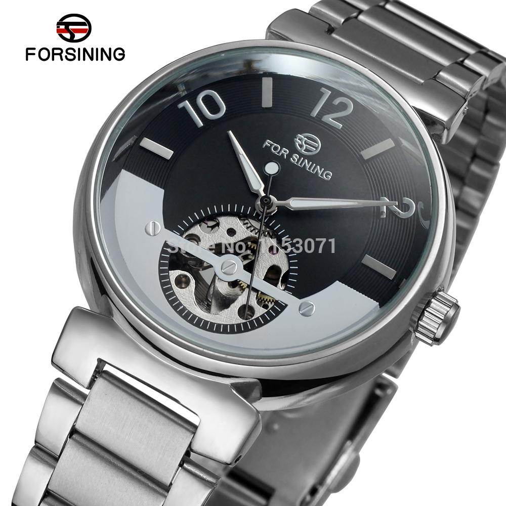 FSG8070M4S2 Forsining Automatic self-wind dress fashion skeleton watch for men with analog display gift box free shipping forsining date display automatic mechanical watch men business leather band watches modern gift dress classic analog clock box