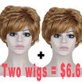 Promotion African American Synthetic Fake Hair Wig Cosplay Wig Natural Bob For Black White Women Cheaper Wigs Short Curly Wigs