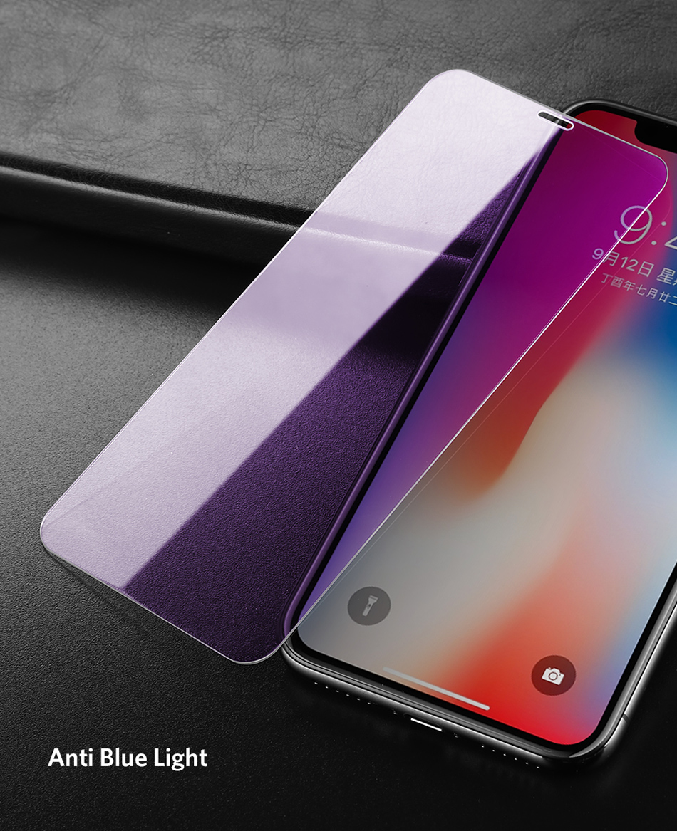 Benks Thin 0.15mm Tempered Glass For iPhone XS 5.8'' XS MAX 6.5'' XR 6.1HD Full Cover Screen Protector Anti Blue Ray Front Film (14)