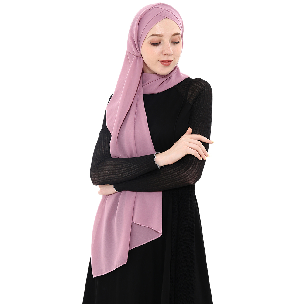 ALI shop ...  ... 33013696602 ... 4 ... 2019 Summer Women's chiffon Ready To Wear Instant Hijab Scarf  Muslim chiffon head scarf Islamic shawls Arab Headscarf ...