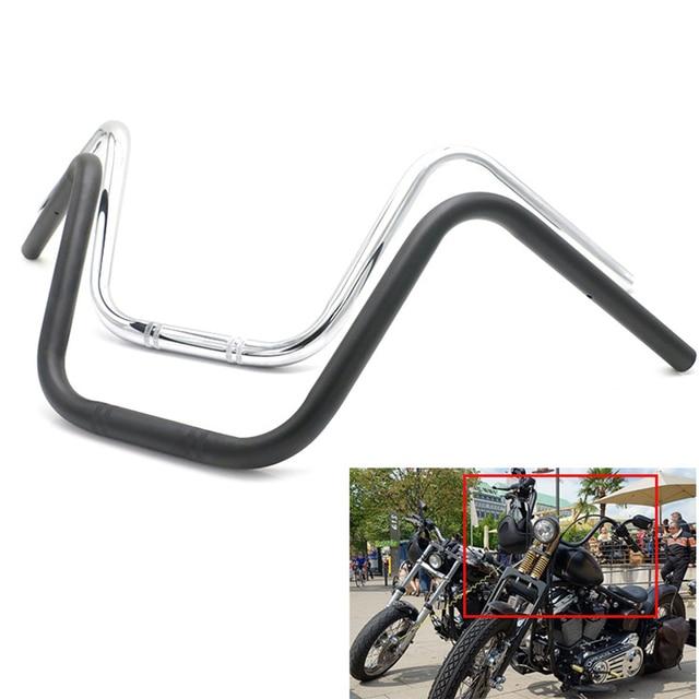 "Retro 25 millimetri di trasporto Del Motociclo Manubrio 1 ""Bar per Harley Davidson Sportster XL883 XL1200 X48 Dyna Road King Fat Boy heritage Softail"