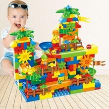 78 304Pcs Marble Race Run Maze Balls Track Building Blocks Funnel Slide Gear Wheel Big Brick Compatible with Big Size Block