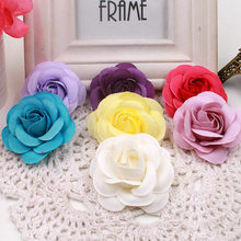10pcs/lot 5.5cm High Quality Fake Flower Head Silk Artificial Flower Wedding Decoration DIY Garland Craft Flower(China)