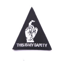 THIS IS MY SAFETY Tactical Morale Patch Black Hawk Down Military Armband Embroidered Decorative Patch For Jackets Jeans Backpack(China)