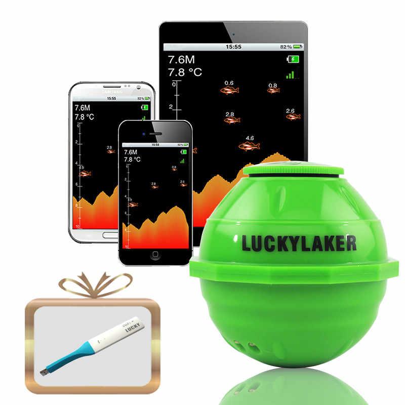 Мобильный телефон, операционный эхолот lucky FF916, эхолот для ловли рыбы, беспроводной Wi-Fi, эхолот, 130 футов