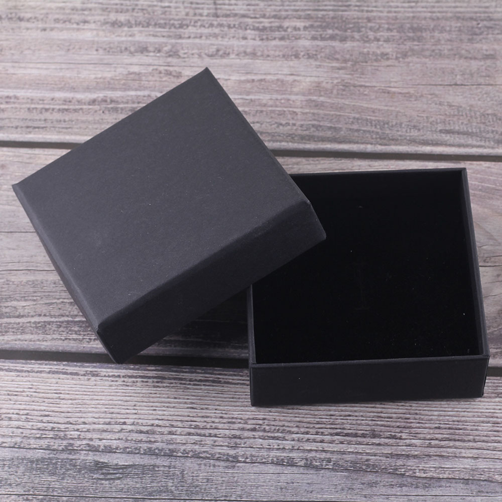 Little MingLou High Quality JEWELRY PACKING BOXES For Bracelet Necklace Black Gift Bag Box Luxuryjewelry Boxes
