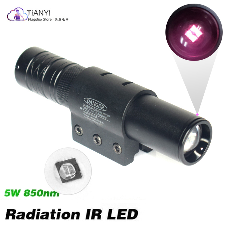 10W IR 850nm LED IR LED Flashlight Torch Long Range Infrared Hunting Light Night Vision Torch IN Mount Pressure Switch Gun Mount