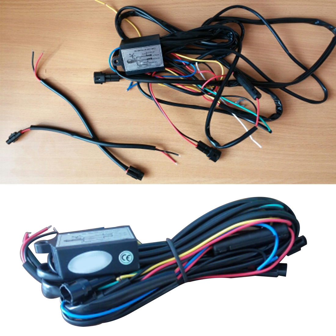 Tonewan DRL Daytime Running LED Light Relay Harness Control On Off Dimmer Car Daytime Running Lights Car Accessories car styling drl controlador auto car led daytime running dimmer on off 12 18 v fe7 2