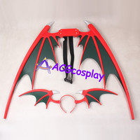 Vampire Darkstalkers Lilith Wings and Headband prop cosplay prop pvc made ACGcosplay