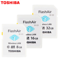 100 Original Toshiba WIFI SD Card Shared Memory SD Card 32GB Class 10 SDHC Flash Memory