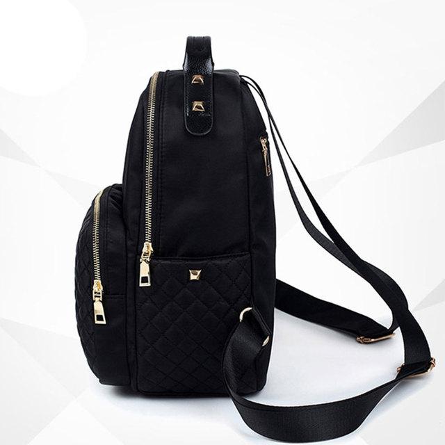 Female Backpack Preppy Style Nylon Women Backpack High Qulaity Shoulder Bags Student Bag Black Backpack A2217 3