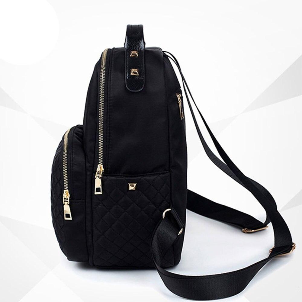 Female Backpack Preppy Style Nylon Women Backpack High Qulaity Shoulder Bags Student Bag Black Backpack A2217 #4
