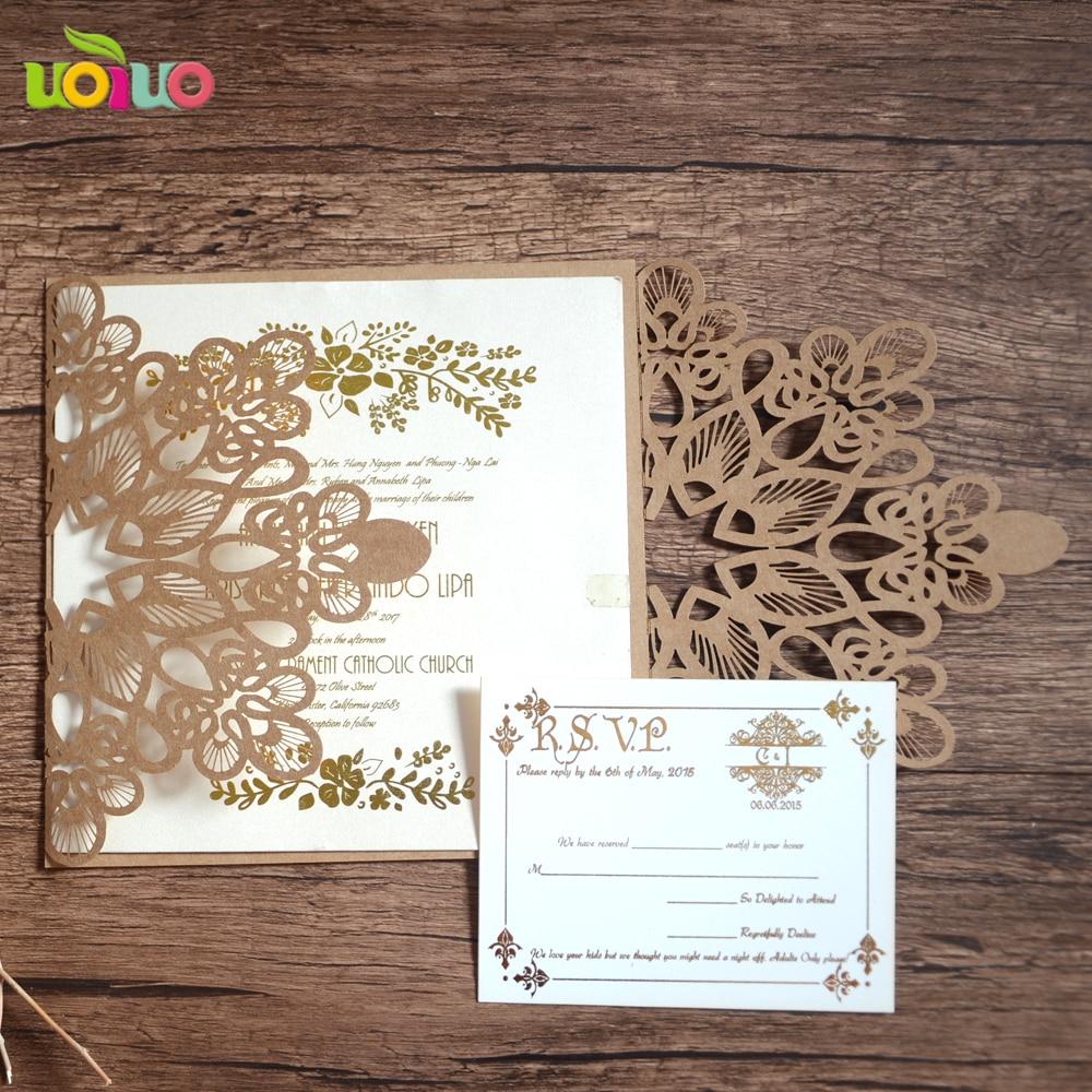 Hot sale laser cut wedding invitations, floral luxury invitation ...