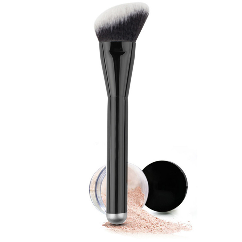 Flat Foundation Powder Makeup Brush Pro Foundation Powder Blush Bronzers Contour Concealer Makeup Cosmetic Brush mint flat contour makeup brush