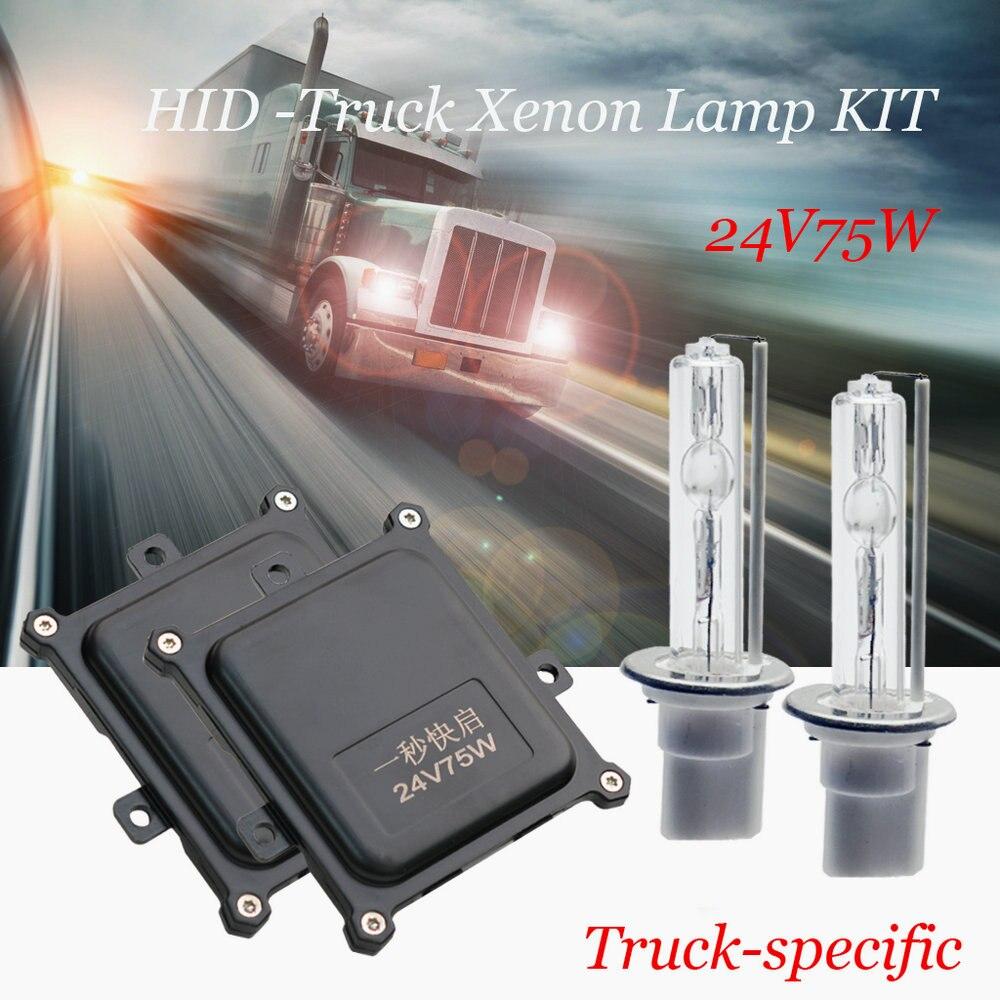 H7 HID xénon ampoules 24 V 75 W Super lumineux camion 75 W 4300 K-8000 K H1H11 9005 HB3 xenon phares ampoules 1 set livraison gratuite