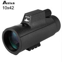 10x42 Monocular Waterproof Telescope Binoculars With Bak4 Prism Monocular Telescope Center Focus Travel Camping With Hand Strap