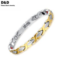 100% Titanium Health Bracelet Bangle For Women Jewelry Magnet Couples Accessories Free Nail Tool TBRM-020