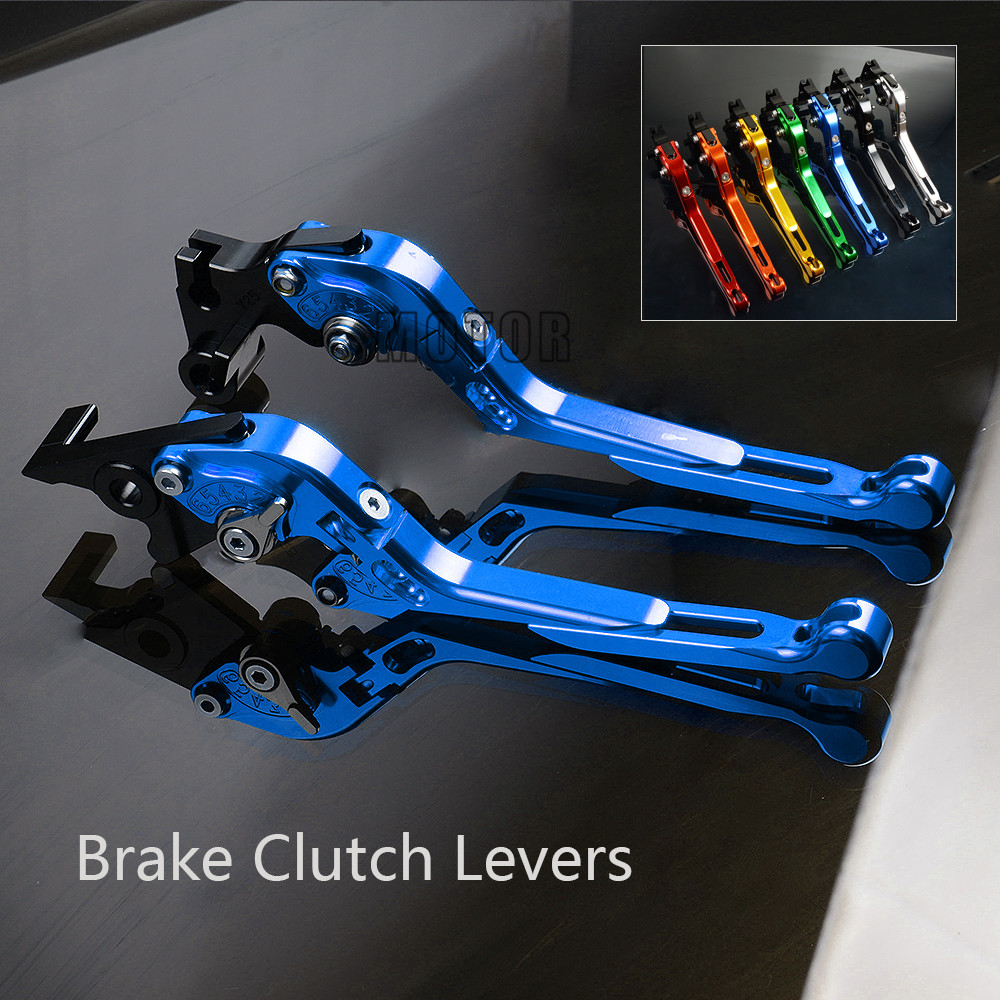 Motorcycle Brake Clutch Levers For <font><b>YAMAHA</b></font> FAZER600 <font><b>FAZER</b></font> <font><b>600</b></font> FZ6S FZ6N 1998 1999 2000 2001 2002 <font><b>2003</b></font> Adjustable Folding image