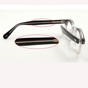Image 5 - جوني ديب نظارات إطار النظارات البصرية الرجال النساء الكمبيوتر شفافة تصميم العلامة التجارية النظارات خلات خمر Q313 2 الموضة