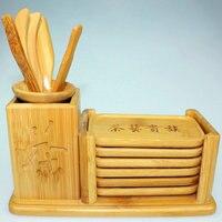Gros bambou naturel est six cuillère à café aiguille thé clips thé ustensiles accessoires fabricants